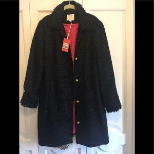 Sail to Sable sequin tweed black coat/jacket